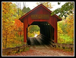 Covered bridge, back view.L1060875 with story by harrietsfriend