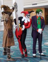 The Scarecrow, Harley Quinn, and The Joker by trivto