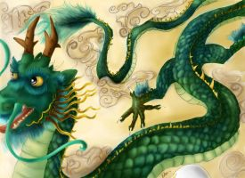 Oriental dragon by Edensama