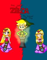 The legend of Zelda The secret of time Cover *w* by ToonZelinkFanForever