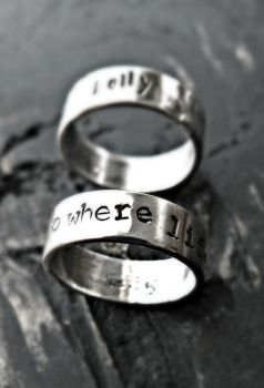 sterling silver personalized ring by yourcharmedlife