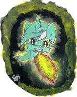 Request:Fire Coming Out of a Lyra's Head by VegemiteGuzzler