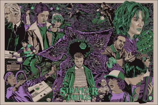 Stranger Things Variant Poster by wild7even