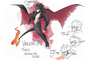 Vincent - Shiny Charizard Y Gijinka by LittleScarecrow