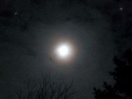 A Bright Light Hangs in the Night Sky by NuclearIncandesence