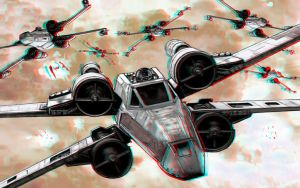 X-Wings in Battle 3-D conversion by MVRamsey