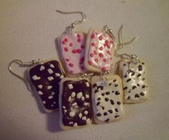Pop Tart Earrings by delicioustrifle