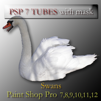 psp 7 swan tubes with mask by feniksas4