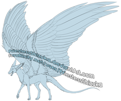 Dutch Angel Dragon -- Free to Use Lineart by PriestessShizuka
