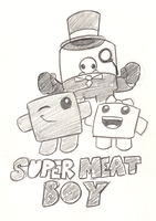 Super Meat Boy by Mickeymonster