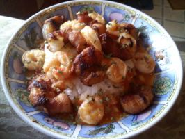 Rice and Shrimp by FutureChefHaku