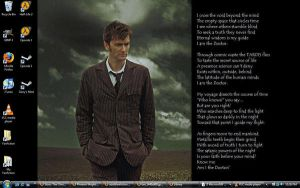 I Am The Doctor Background by Wolverinegal