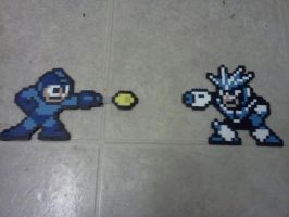 Mega Man VS Gemini Man by ZanderYurami