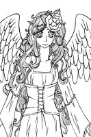 - Free Lineart - Leilah the Guardian by Elythe