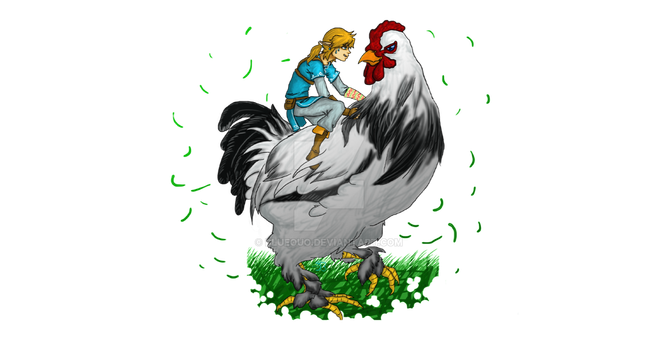 Link On Chicken by blueOuO
