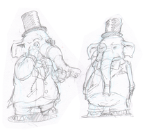 An Elephant in Victorian Attire by mistermuck