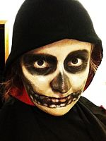 Reaper makeup. with hood by Dragon-princess08