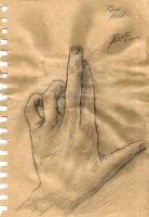Quick Sketch: Posed Hand by TheMetalThespian