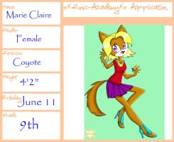 Marie Claire Application by Desert-Poppy