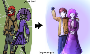 8 Months of drawing comparison by AtomicWarpin
