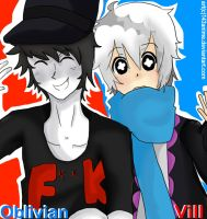 Obilvian and Vill by 143anime