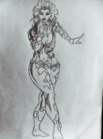 Arkham City Poison Ivy sketch by DiegoE05