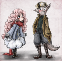 Sheep and Wolf by WafflezNFries
