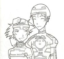 Old stuff - Tron and Sora by SnowpirateRoy