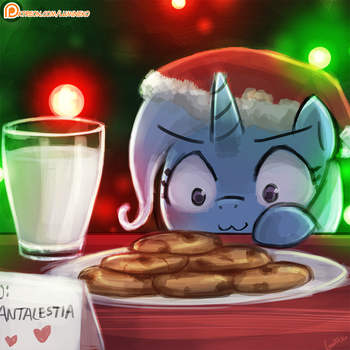 Trixie wants the cookies and milk by luminaura