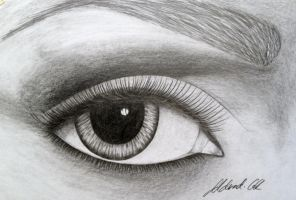 Pencil Eye by Udvardi