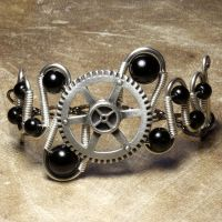 Steampunk Bracelet Z by CatherinetteRings