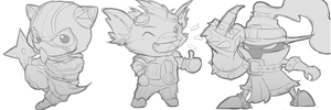 Yordle Sketches 2 by KittyConQueso