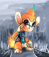 Coconut the Chimchar by Co0kie-Cat