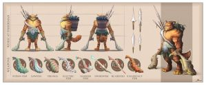 Werecat fisherman character sheet by Telmand