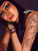 tat2 women sketch by selfu