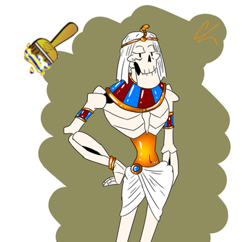 Neopet Lost Desert Paint Swap! Papyrus by FlargahBlargh