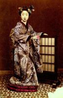 Vintage fancy japanese lady by MementoMori-stock