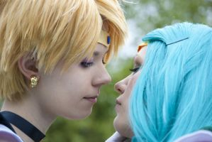 Sailor Uranus x Sailor Neptune by xNimeria