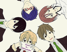 FREE! (anime)  Lineart: Colored by Chiinyan