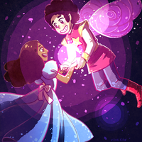 Fairy Steven and Connie by visualkid-n