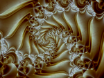 White Marble Spiral by fraxialmadness3