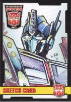 Sketch Card: Optimus Prime by beamer