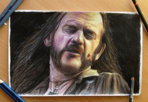 Lemmy Young / Motorhead color pencil drawing by AtomiccircuS