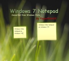 Windows 7 Notepad by peppemilan22