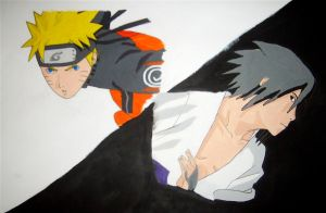 naruto vs sasuke by mento123