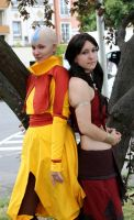 Aang and Katara Cosplay IV by Honeyeater