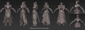Valkyrie Armor Concept sculpt by 0SkyerS0