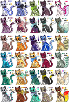 Pixel Kitties Adoptables [CLOSED] by Starlight-Asylum
