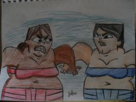 Sumo Courtney and Heather by JohnMarkee1995