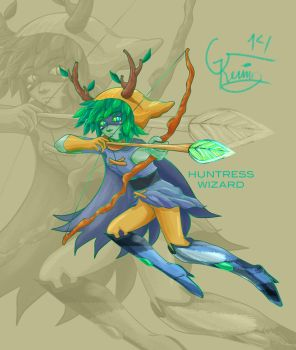 Huntress Wizard by Blackminds15